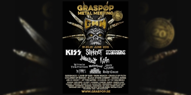 Slipknot - Graspop Metal Meeting 2015 Line Up
