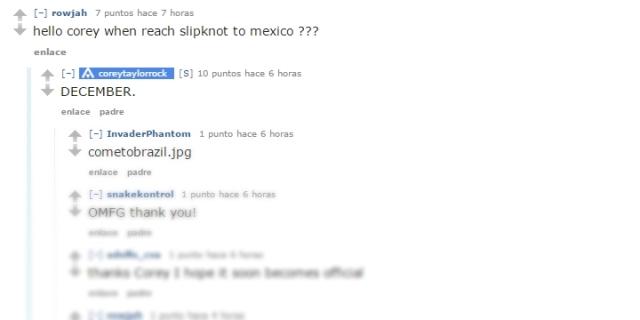 slipknot en mexico diciembre 2015