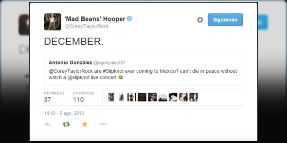 SlipknotMexico-CoreyTaylor-Twitter-Mexico-Diciembre