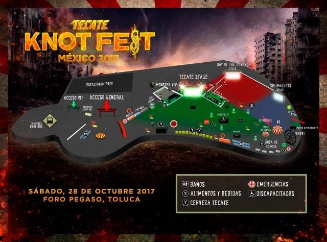 slipknotmexico- mapa foropegaso knotfest mexico 2017